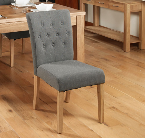 Upholstered Dining Chair - Slate (Pair) - 002
